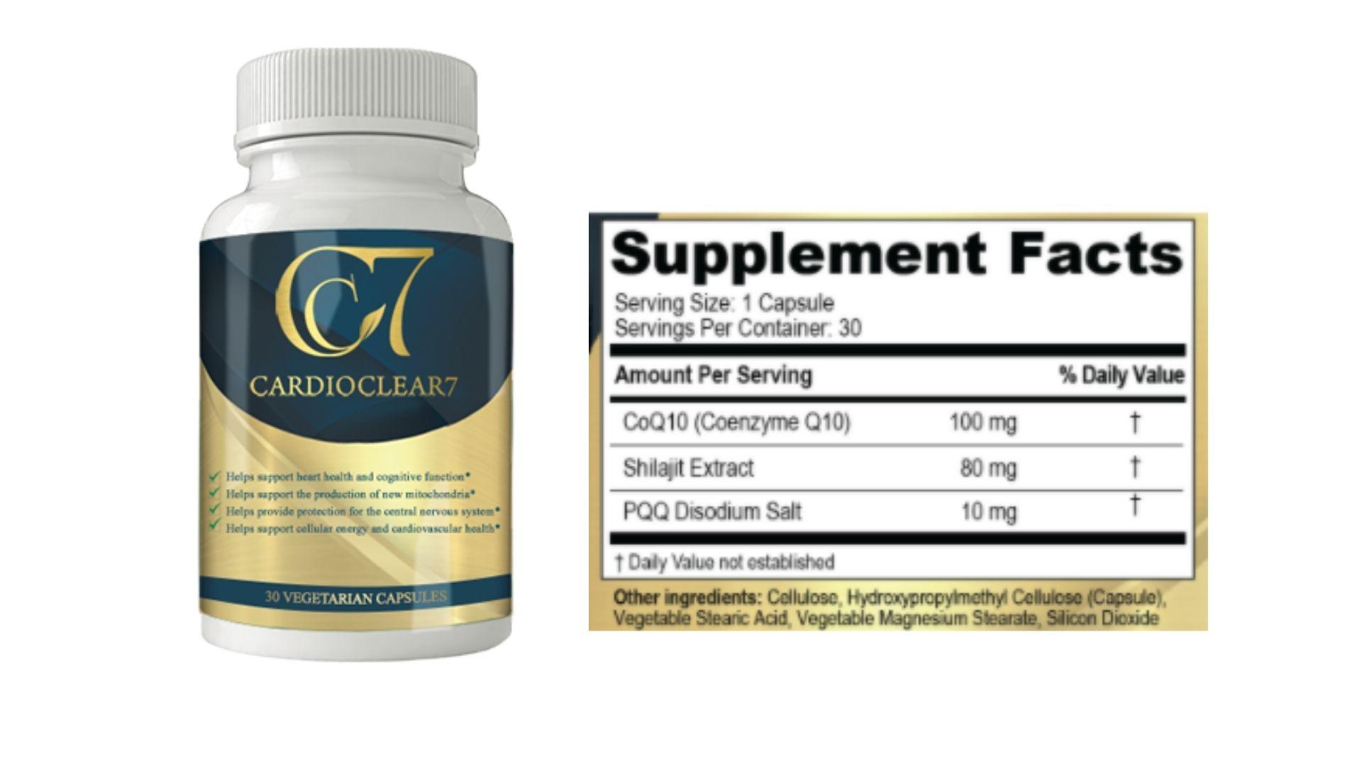 Cardio Clear 7- Dosage