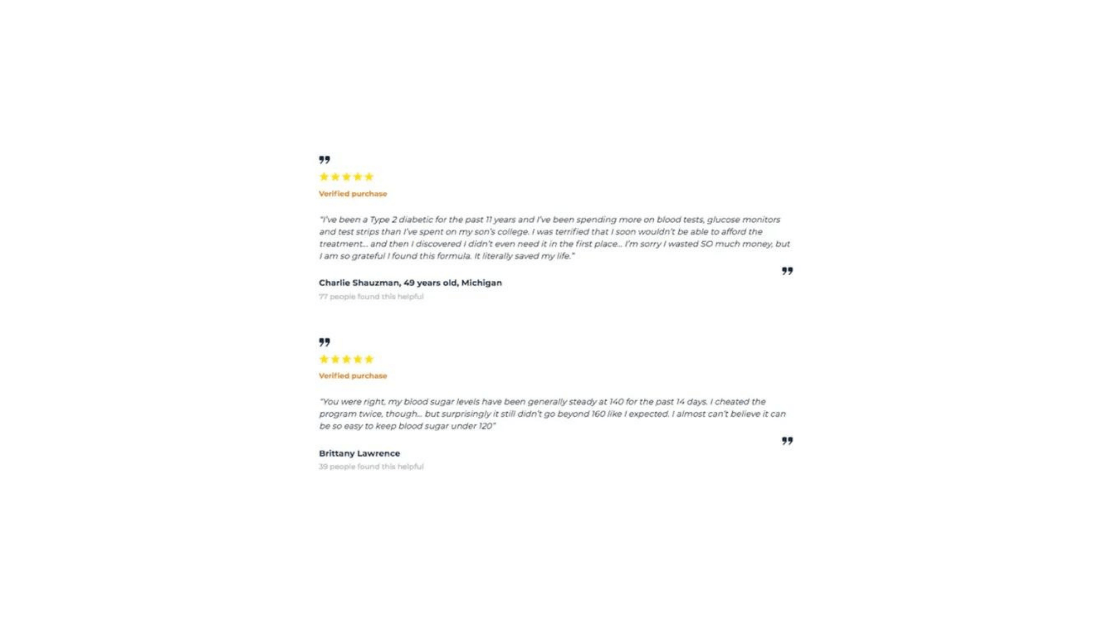Diabacore supplement Customer reviews