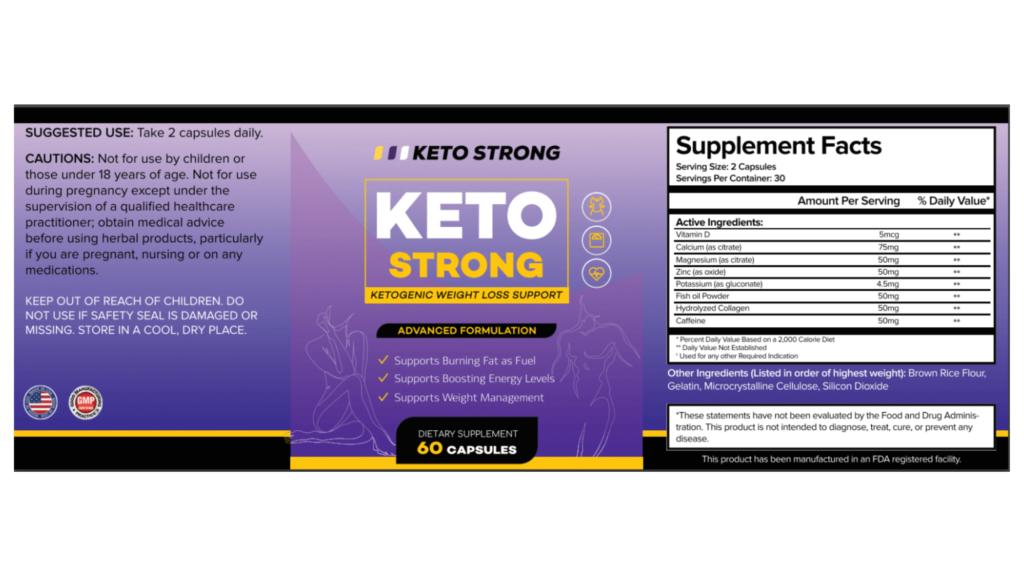 Keto Strong Dosage