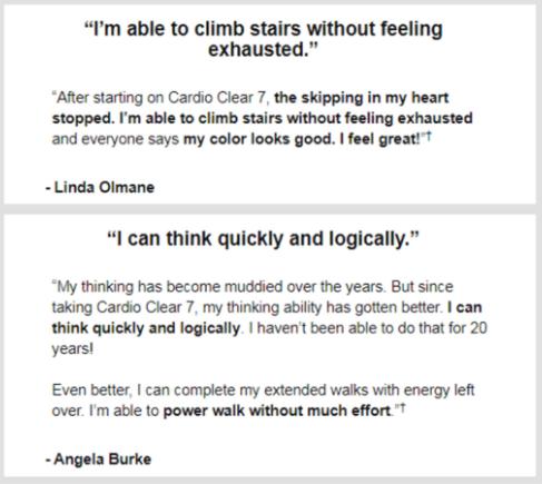 Cardio Clear 7- Customer Reviews