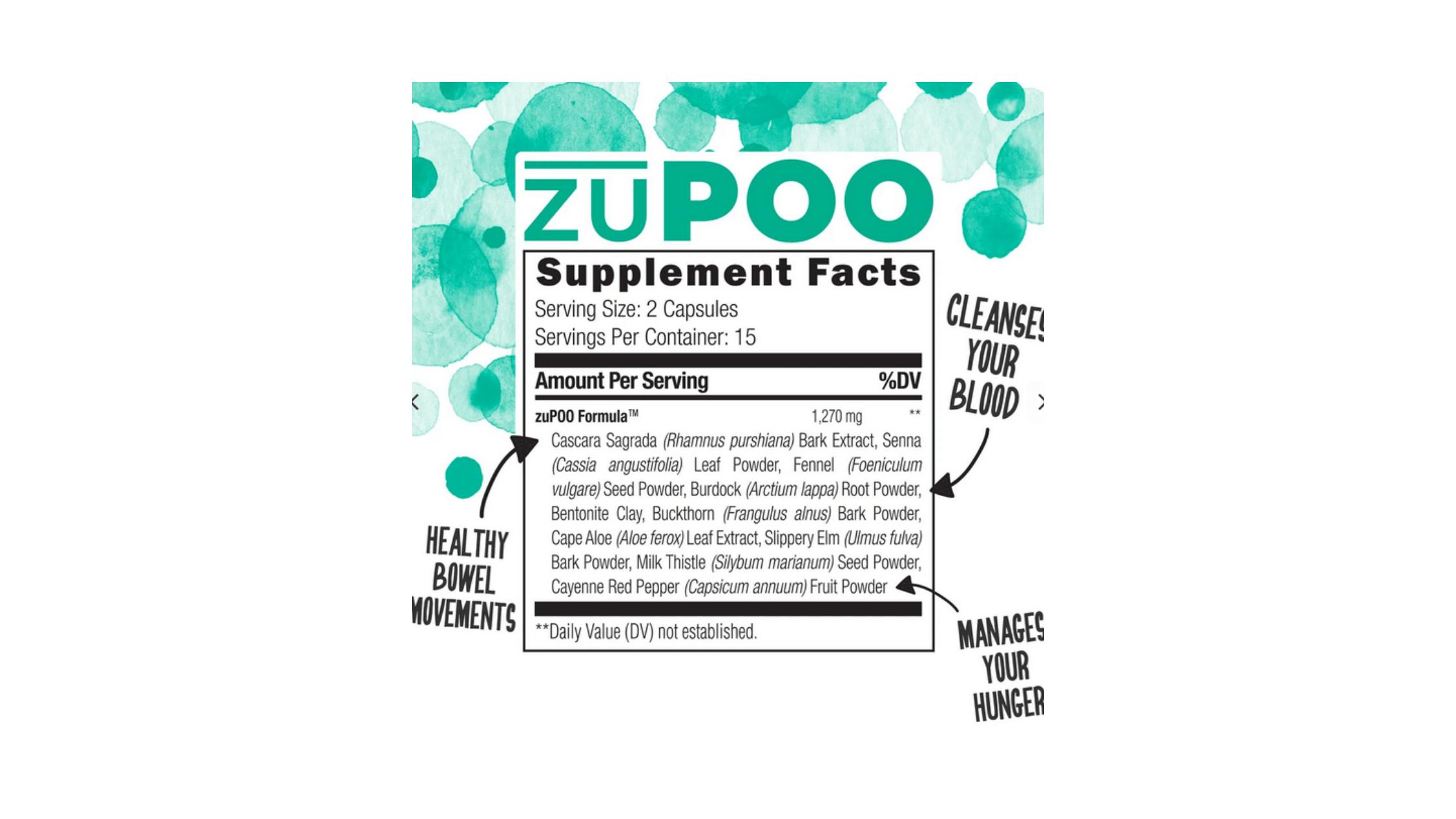 UMZU zuPOO supplement facts